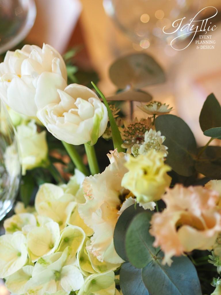 detalii aranjament floral Idyllic