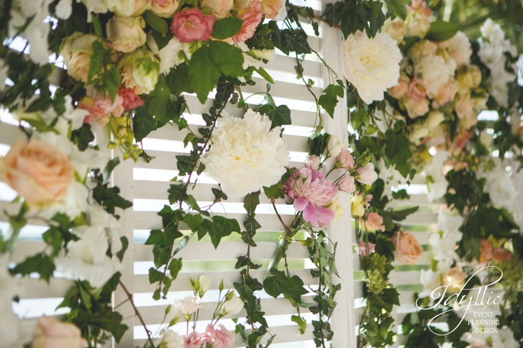 Panou decorat cu flori