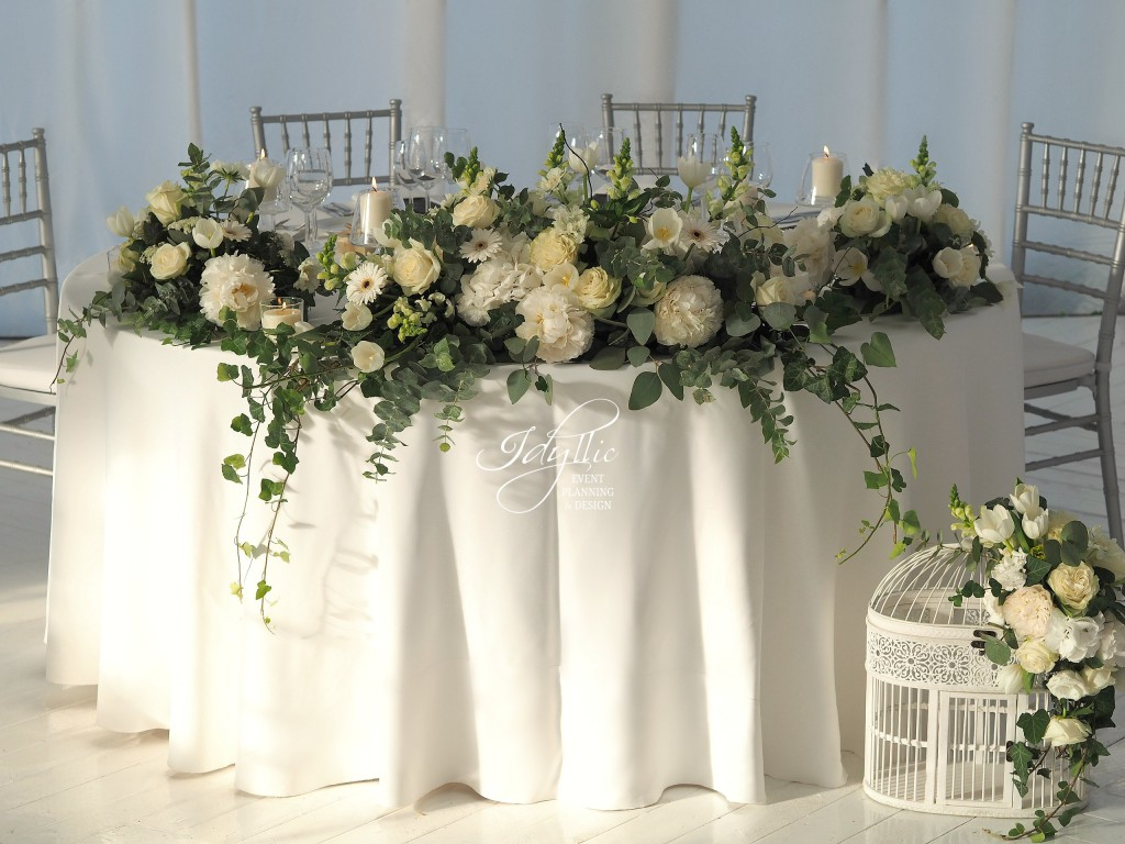 design prezidiu nunta Idyllic Events