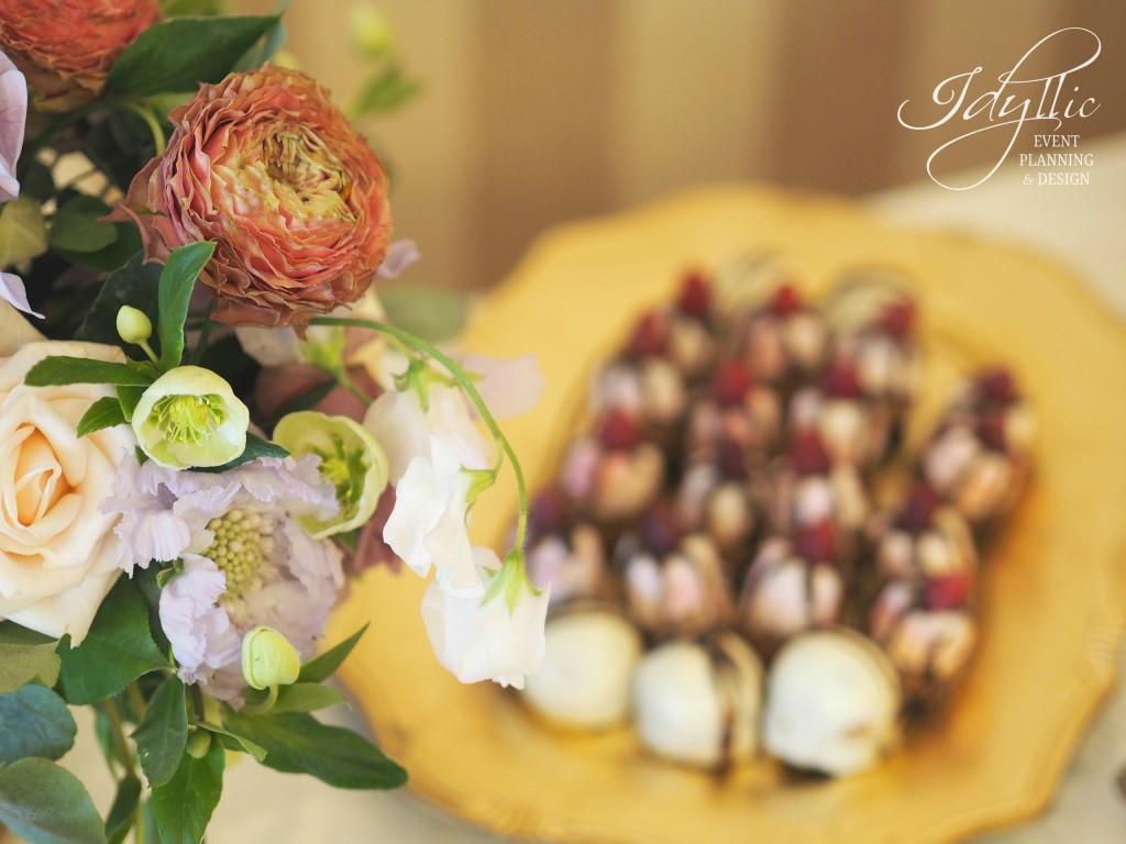 detalii aranjament floral nunta Idyllic