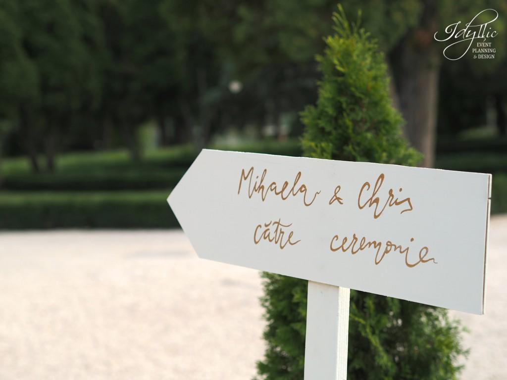 Semn din lemn decor nunta