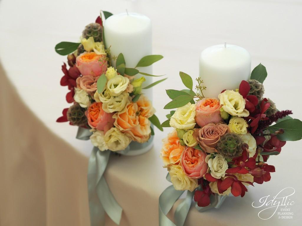 Lumanari nunta by Idyllic Events