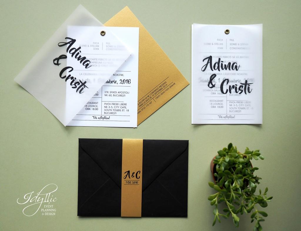 Invitatie nunta by Idyllic Events