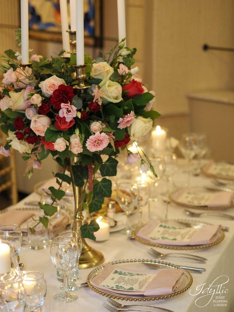 Decor floral sfesnice nunta