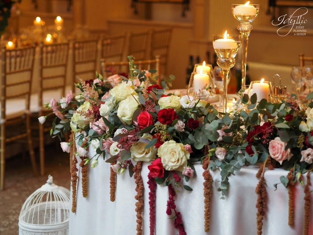 Decor masa mirilor nunta
