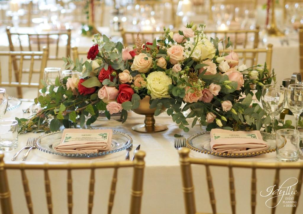 Decor nunta masa dreptunghiulara