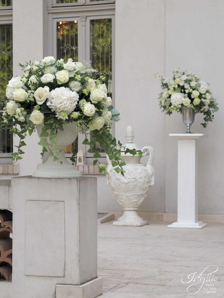Aranjamente florale exterioare nunta