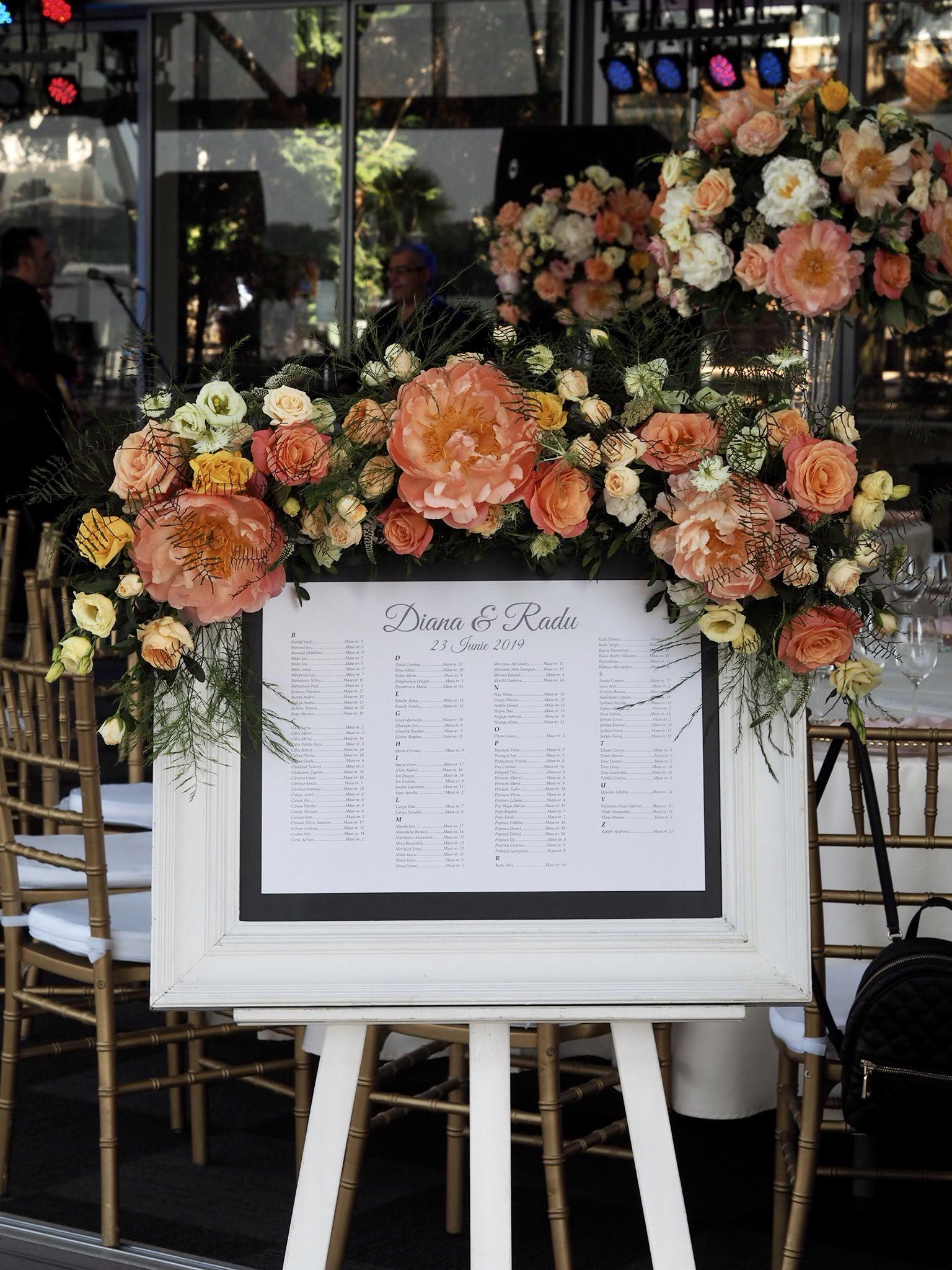 Sevalet decorat cu flori