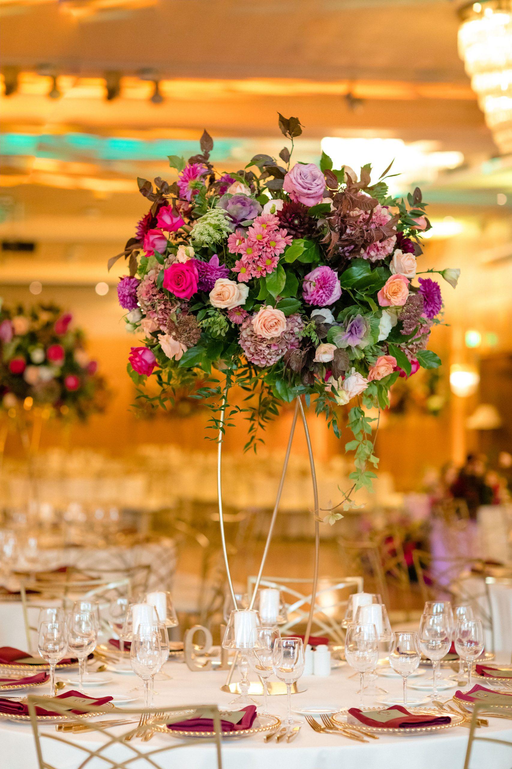 Aranjamente florale nunta Crowne Plaza