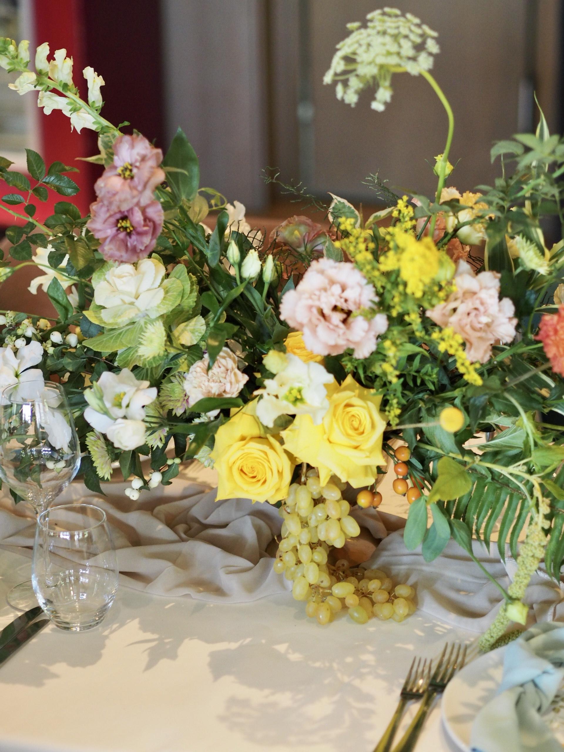 Detalii aranjamente florale botez Diplomat